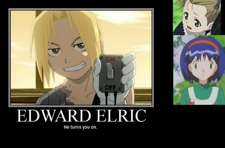 <b>Ed Elric and Elicia Hughes of FMA! and Erika of Pokemon!^^</b>