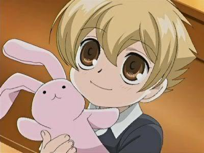 Usa-chan (The bunny doll he's holding.)