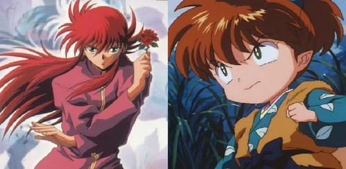 आप could be either of these two: Kurama from Yu Yu Hakusho, या Shippo from Inuyasha. They are both kitsune :) Also they are characters that either a girl या boy could costplay. (actually girls would look better I think:)