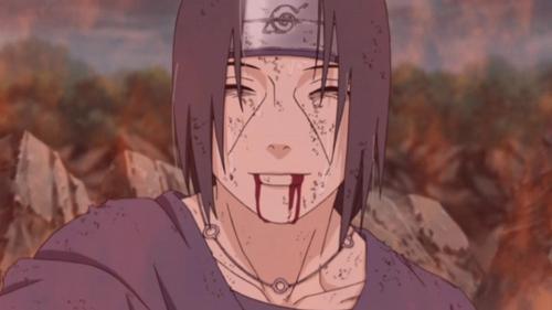 "Uchiha Itachi's Death ""Forgive me Sasuke... ...It ends with this.""~itachi"