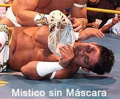 His name is Ignacio Almanza (bottom), a professional mexican luchador. As far as I'm concerned, he is not related to any other wrestler on WWE.