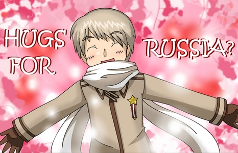 It was a difficult decision for me between this one and tons of other smiling anime charries but I eventually chose this one! Russia (human name Ivan Braginski/Braginsky) from hetalia