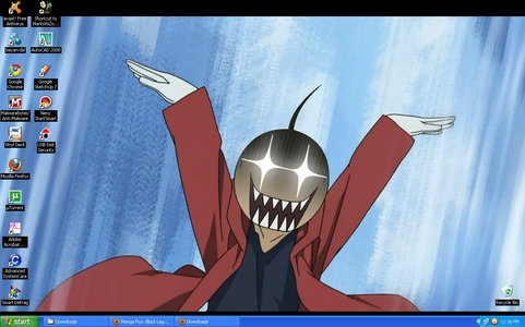 I find this pic funny. I'm not sure what episode it's from but it's in chap 90 of the manga. For those who can't reconize him, it's edward elric from Fullmetal Alchemist brotherhood.
