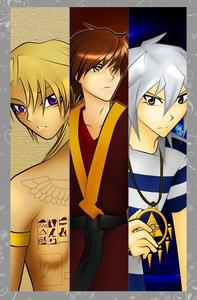Marik (Yugioh) Zuko (Avatar: The Last Airbender) Bakura/Ryou (Yugioh) (got the pic from http://browse.deviantart.com/?qh=&section=&q=Zuko+Bakura#/d1optip and altered it)