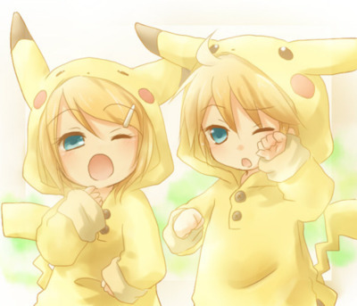 Rin and Len Kagamine from Vocaloids!
