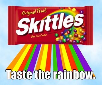 My favori snack hmm...SKITTLES!