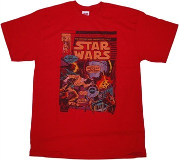 This one ster Wars overhemd, shirt i have because its ster Wars and it looks like a comic book. People have complimented it.