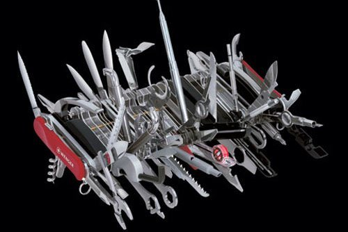 Well, we all know I can keep my swiss-army knife. Try it. See what happens when I take this out.