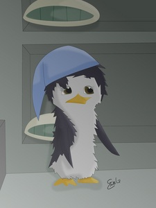 Me is....ICICLE! :D Bluestrap. Name: Icicle Bluestrap Gender: Female Eyes: Dark Brown Species: Little Blue penguin, auk inayopendelewa Color: (light pale)Blue Feather coloring: (Fuzzy) Grey & Dark Blue Other: I wear blue glasses. :D (Note: Reason why my penguin, auk is like that because I always wear a ponytail, my inayopendelewa color is blue, I have bad vision and I actually wear blue glasses, because I'm tan-ish I made my feathers gray, I'm really short so I put myself as a little blue penguin, and kwa hair is REALLY messed up and frizzy so that's why I have fuzzy feathers. X3)