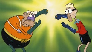 Mermaid Man and Barnacle Boy!