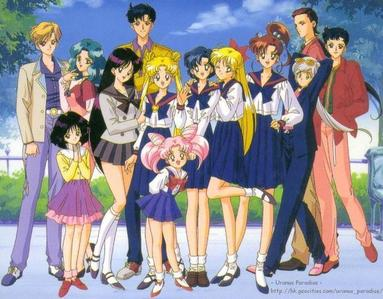 Sailor Stars is also known as the Sailor Starlights( Sailor 星, つ星 fighter, Sailor 星, つ星 healer, and Sailor 星, つ星 maker) Sailor Starlights in civilian forms is a group of singers called Three lights. Civilian name of Sailor Starlights Sailor 星, つ星 fighter: Kou Seiya Sailor 星, つ星 Healer: Kou Yaten Sailor 星, つ星 Maker: Kou Taiki Sailormoon Sailor Stars is divided into two arc The first arc solve some conflict from the last season with old villain クイーン Nephrenia(Nehelenia) And her new allies Mirror Parredary. The 秒 arc start with Mamoru who goes to America(Harvard) to study. The new villain for arc two is Sailor Galaxia. This is where Sailor Starlights step in. Seiya(Sailor 星, つ星 Fighter) fell in 愛 with Usagi.Also, besides Sailor Starlights there another new characters Sailor Chibichibi Moon and Princess Kakyuu. あなた can watch the last episodes of Sailor Stars on www.MoonPrincess.com To find もっと見る information visit www.eternalsailormoon.org