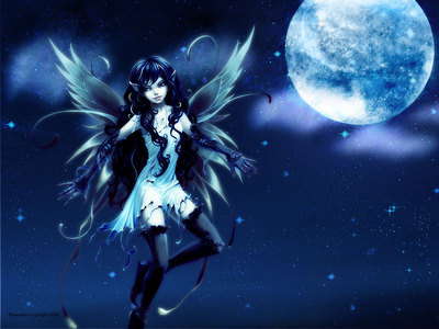 A fairy of darkness and death. I would look like this.
