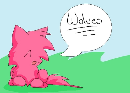 """Write the word """"Wolves"""" on paint and draw a chó sói, sói and post it here"""