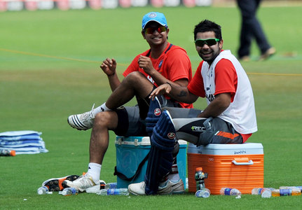 do u think KHOLI is moving friendly with SANU? - suresh ...