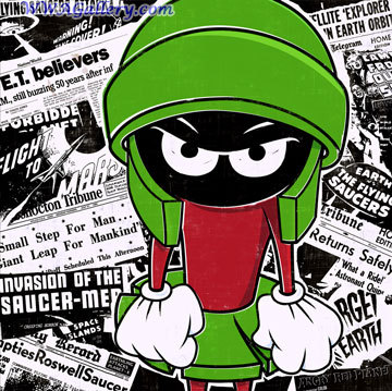 Marvin Martian (Yeah, yeah, it's technically Marvin The Martian, so what). I used to be so obsessed with this character and collected so much Marvin Martian things. On a side note, I dealt with Hidden before on the Harry Potter vs. Twilight page. Thank gawd she doesn't go there much anymore. Dude, chill out about people's answers. If 당신 didn't want people to put 아니메 pictures, why ask this 질문 if it deals with cartoons?