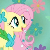 I'd be Fluttershy because im really shy and i Любовь animals.