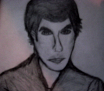 i'm not very good at drawing :P its supposed to be damon salvatore from the vampire diaries