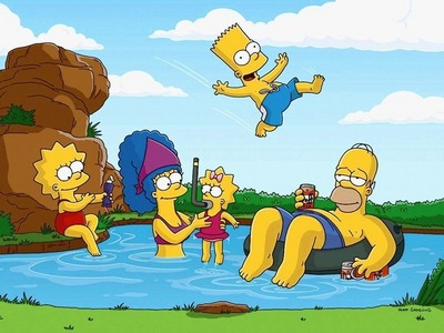 The Simpsons! I 愛 Lisa and Maggi! Actually all of them Bart is so funny!