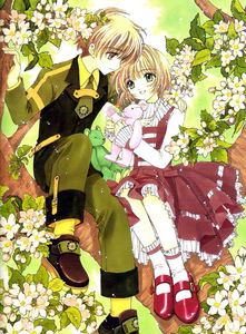 sakura and syaoran from card captor sakura