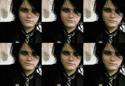 Pretty much this, just tiled so its like 18 of them. BTW for those that dont know, it's Gerard Way <3