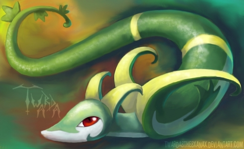I loved Pokemon since i was little! i had the pokemon cards and every pokemon game. My favorite pokemon is Serperior and Hydreigon!!!!