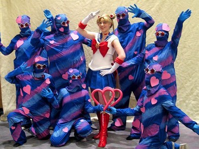 The Henshin Ninjas. Ignore Sailor Moon and LOOK AT THAT BADASSERY.