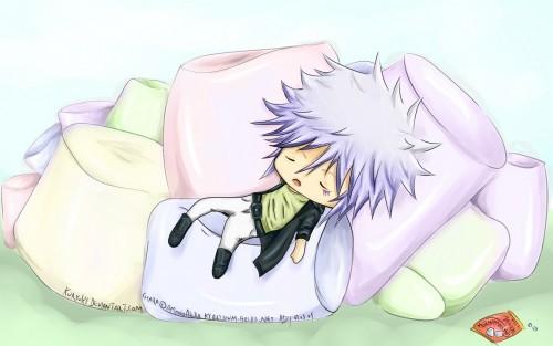 Byakuran with his marshmallows... (KHR!)