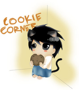 I found two super cute Neko L's but could only post one. Isn't it cute??!! Not sure who drew it.