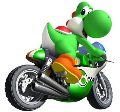 Yoshi...but on a motorcycle!