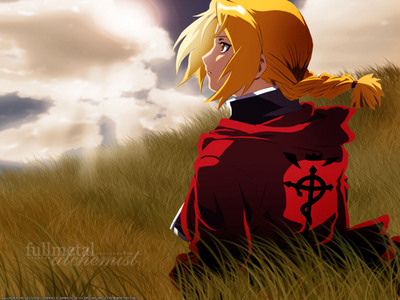 Edward Elric has great hair! I like it cause he can also wear it down though he dosen't very much.