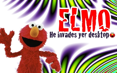 When I think of red, I think of what any crazy, un normal, childish person thinks of! ELMO!