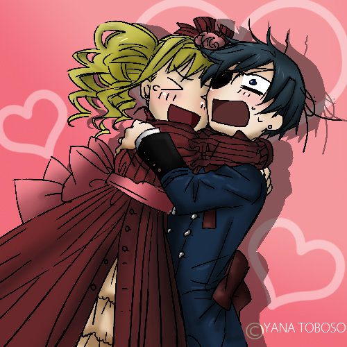 """They didn't :) But Elizabeth looks like she would want one, while Ciel is like """"N.O."""" lol"""