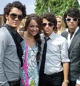 miley and the jonas brothers