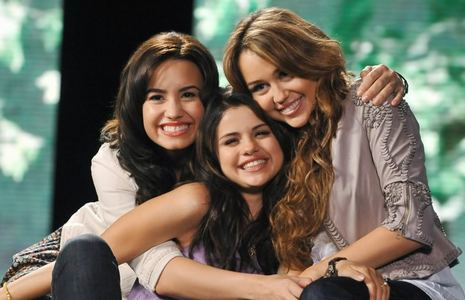 Here is mine miley with selena and demi