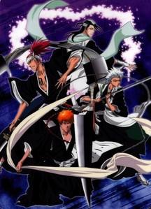 Ichigo,Toushiro,Renji and Byakuya from Bleach,i'm very like this picture they so cool here^^