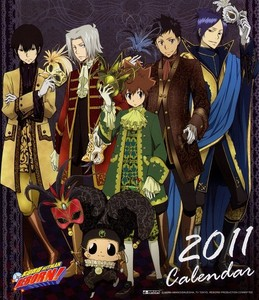 Tsuna, Gokudera, Yamamoto, Hibari, Mukuro and Reborn from Katekyo Hitman Reborn!