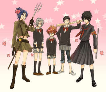 The Vongola Family in skirts