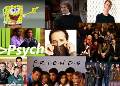 I have tons! SPONGEBOB is my all time favorite, but I also Liebe Mork and Mindy, Monk, Pushing Daisies, Psych, Wings,Saturday Night Live, Friends, and Criminal Minds! :D