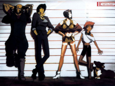 tu might want to try Kekkaishi o Cowboy Bebop (may be a little to old for him.)