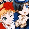 Ciel Phantomhive and Elizabeth Middleford from Kuroshitsuji.