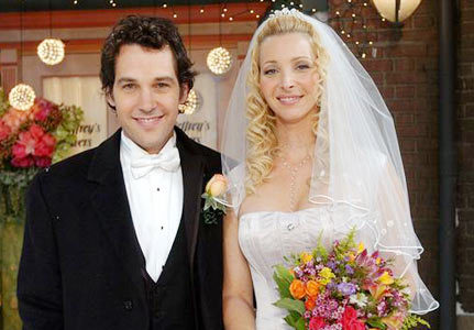 Probably Phoebe and Mike from Friends, they were cute together! I <3 Paul Rudd!!!