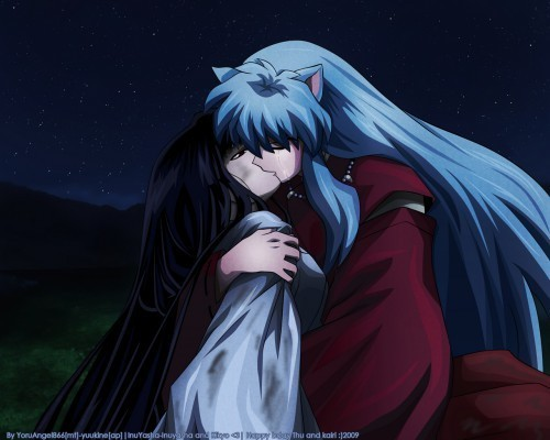 InuyashaxKikyo? (This is a very touching pic to me. A tragic romance)