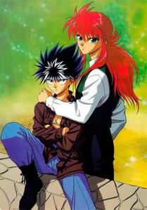 I like Hiei and Kurama's hairstyle!!!!! :D