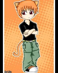 Kyo Sohma in a normal picture is not cute, he is hot! but this is him cute version: