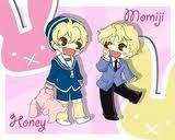 I don't really care if the contest is over, but I think Momiji from Fruits Basket and Honey from OHHC are the cutest things in the world! This picture makes me so happy ^O^