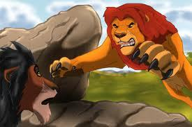 Mufasa would most likely Excile him and , if he returned again he would probably kill him!