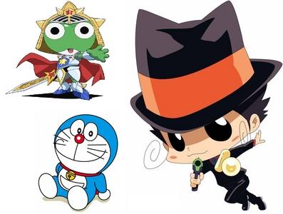 1.Katekyo Hitman Reborn! 2.Sgt.Frog/Keroro Gunso 3.Doraemon