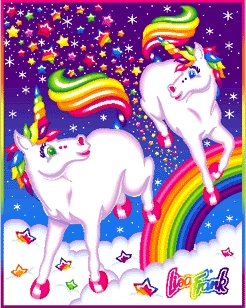 A pelangi, rainbow unicorn from the magical land of Kwakwa.