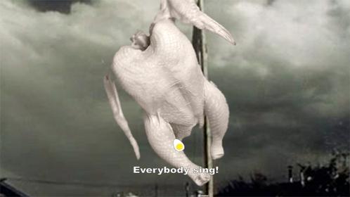 ..a piece of chicken on a pole....jk a kitty:D