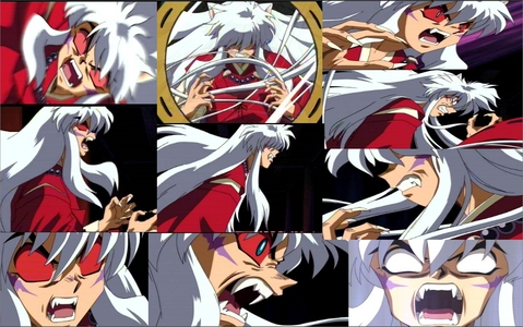 My wallpaper is an InuYasha Montage I made myself